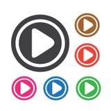 Botão do ícone do jogo ilustração royalty free