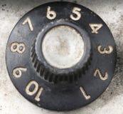 Botão do amplificador da guitarra fotografia de stock