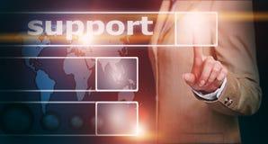 Botão do apoio da pressão de mão Fotografia de Stock