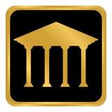Botão do banco no branco Imagem de Stock Royalty Free