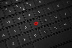 Botão do beijo Imagens de Stock