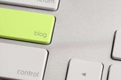 Botão do blogue Fotografia de Stock