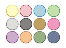 Botão do círculo de cor dois Imagem de Stock