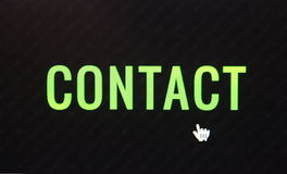 botão do clique do contato Imagem de Stock Royalty Free