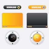 Botão do design web Imagens de Stock