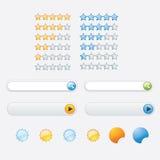 Botão do design web Fotografia de Stock Royalty Free