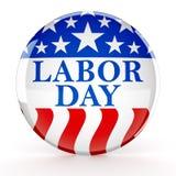 Botão do Dia do Trabalhador Fotos de Stock Royalty Free