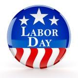 Botão do Dia do Trabalhador Imagem de Stock