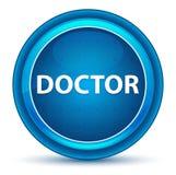 Botão do doutor Eyeball Blue Round ilustração do vetor
