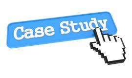 Botão do estudo de caso com cursor da mão. fotos de stock royalty free