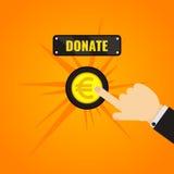 Botão do Euro da doação ilustração do vetor