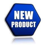 Botão do hexágono do produto novo Imagens de Stock