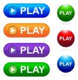 Botão do jogo Fotografia de Stock