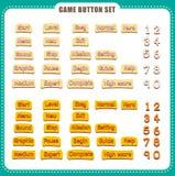 Botão do jogo com evento Ilustração do vetor Fotografia de Stock Royalty Free
