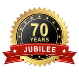 Botão do jubileu com bandeira - 70 ANOS Fotos de Stock Royalty Free