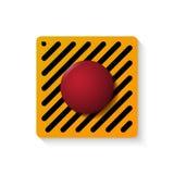 Botão do lançamento isolado sobre o branco Imagens de Stock
