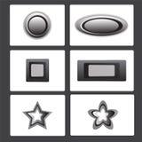 Botão do metal Foto de Stock