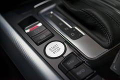 Botão do motor da parada de começo imagem de stock