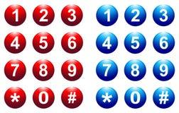 Botão do número