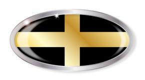 Botão do Oval da bandeira de Davids de Saint de Galês ilustração royalty free