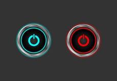 Botão do poder da parada de começo ilustração stock