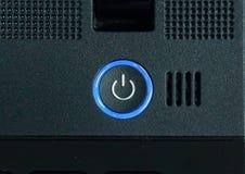 Botão do poder do portátil. foto de stock royalty free
