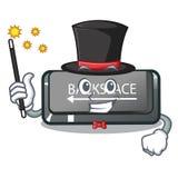 Botão do retrocesso do mágico em um caráter do computador ilustração royalty free