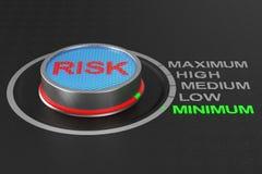 Botão do risco no fundo escuro ilustra??o 3D ilustração stock