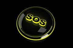 Botão do SOS ilustração do vetor