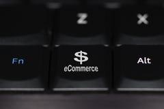 Botão do teclado do comércio eletrónico Foto de Stock