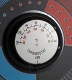 Botão do termostato imagens de stock royalty free