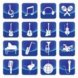 Botão do vetor dos instrumentos de música Imagem de Stock