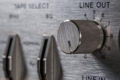 Botão do vintage Foco na linha para fora botão imagens de stock royalty free