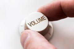 Botão do volume fotos de stock