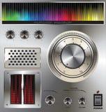 Botão do volume com o equalizador colorido digital Fotos de Stock