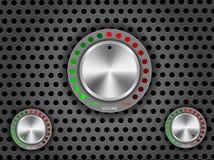 Botão do volume, controle ilustração stock