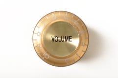 Botão do volume da guitarra Fotografia de Stock