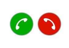 Botão dos auriculares do telefone ilustração do vetor