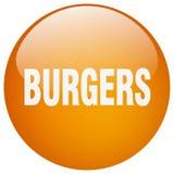botão dos hamburgueres ilustração stock