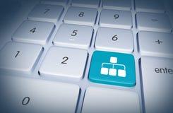 Botão dos trabalhos em rede Fotos de Stock