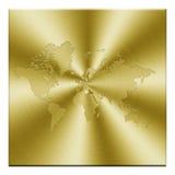 Mapa dourado Fotos de Stock Royalty Free