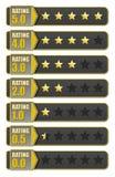 Botão e estrelas da avaliação Fotografia de Stock