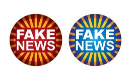 Botão falsificado da notícia ilustração do vetor