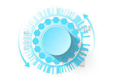 Botão futurista do controle como um fundo para seu projeto Imagem de Stock