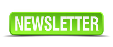 botão isolado do boletim de notícias quadrado verde Imagem de Stock