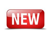 botão isolado novo da Web do quadrado vermelho Foto de Stock
