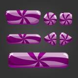 Botão listrado ajustado nos desenhos animados style-8 Imagem de Stock