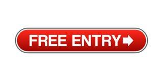 Botão livre da entrada ilustração royalty free