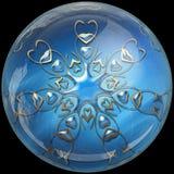 Botão lustroso com ornamento colorrful ilustração do vetor
