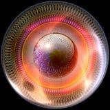 Botão lustroso com ornamento colorrful ilustração royalty free